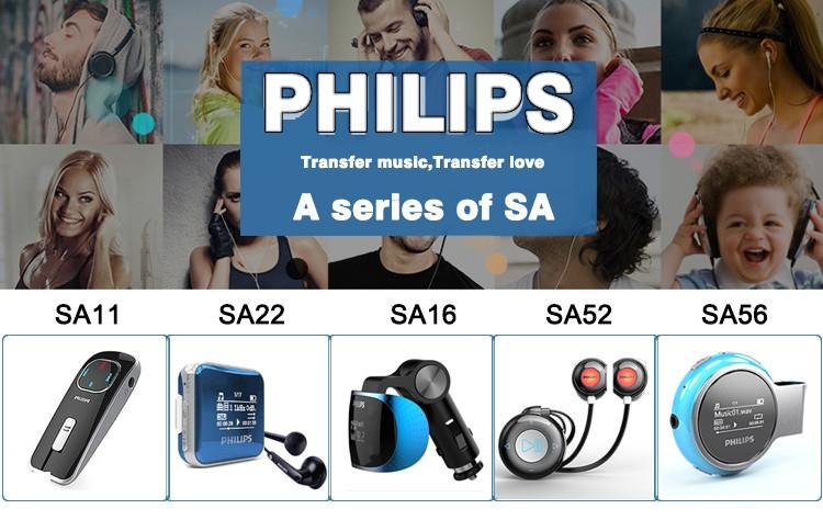 Philips Joc Portable Mini Lecteur Mp3 avec Télécommande De Voiture MP3 Léger