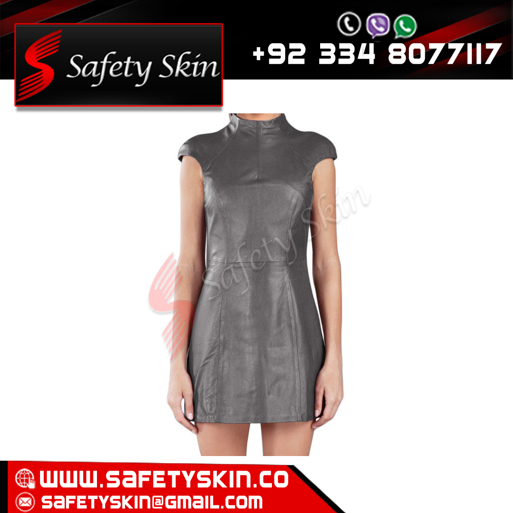 AMAZING STRETCH LEATHER MINI DRESS