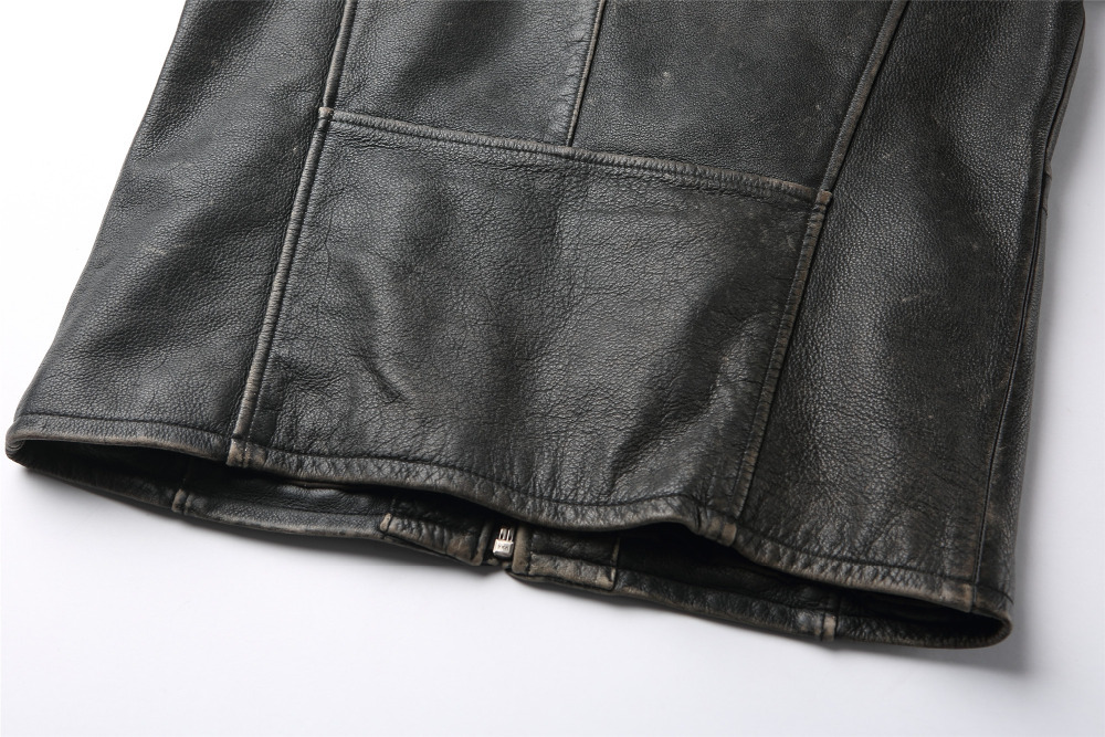 Super quality custom vintage jacket with zipper hot sale jacket for men