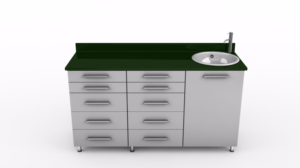 Dental clinic furniture equipment sink watertap drawers
