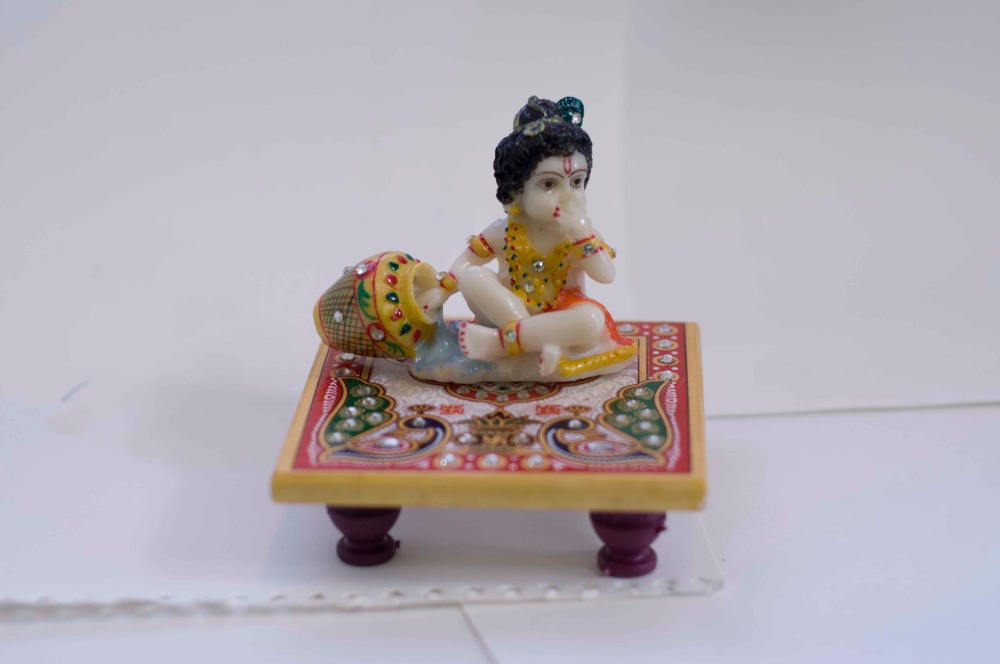 Laddu Gopal On Golden Marble Chowki