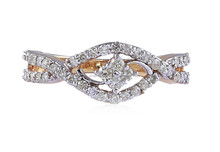 STUNNING 0.63 CTS NATURAL DIAMONDS WEDDING RING IN SOLID BIS HALLMARK 18KT GOLD AT WHOLESALE PRICES