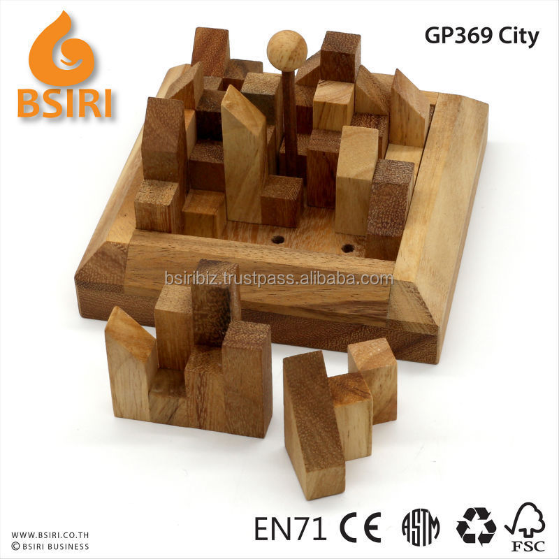 City Planner wood brain teaser puzzle wooden
