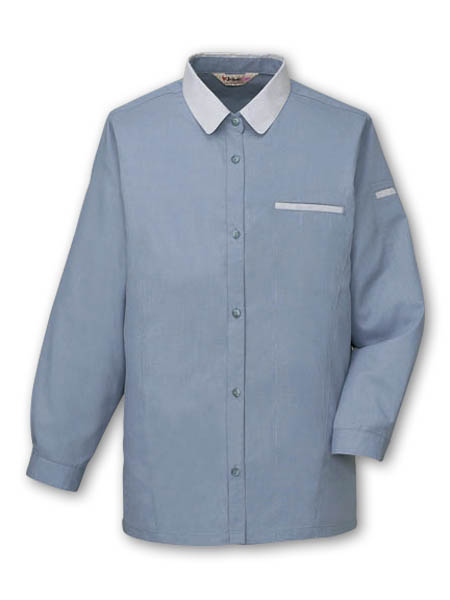 Antistatic women summer work clothes / long sleeve shirts made with cooling fabric. Made by Japan