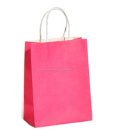 Craft paper bags with twisted handle (TH232-150003 Pink)