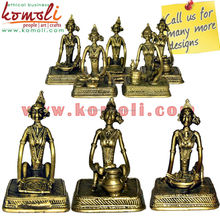 Tribal Working Ladies - Dhokra Artifacts - Bronze tribal art metal sculpture from India famous metal sculptures