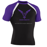 Black Fuji full Sublimation good quality MMA Rash Guards in all colors and customization