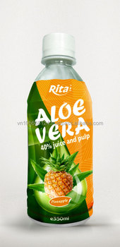 Whosaler high quality 350ml pineapple flavor aloe vera drink