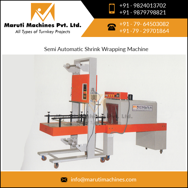 Semi Automatic PE Film Pet Bottle Shrink Wrapping Machine