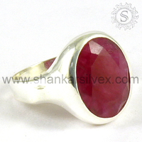 Unique Natural Ruby 925 Hallmark Sterling Silver Ring RNCT2223-3