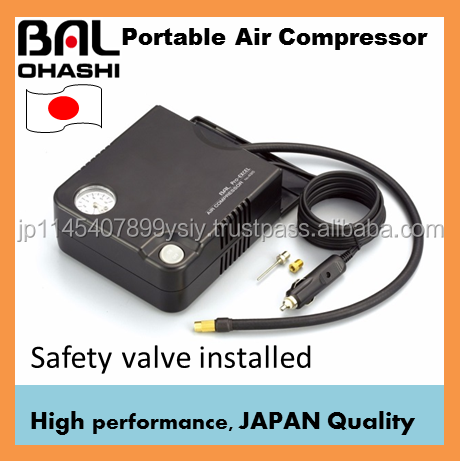 High-performance portable mini air compressor from Japanese supplier
