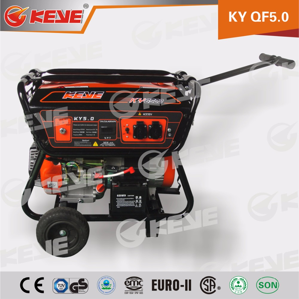 High Efficiency Big Power 5kw gasoline generator with electric starter