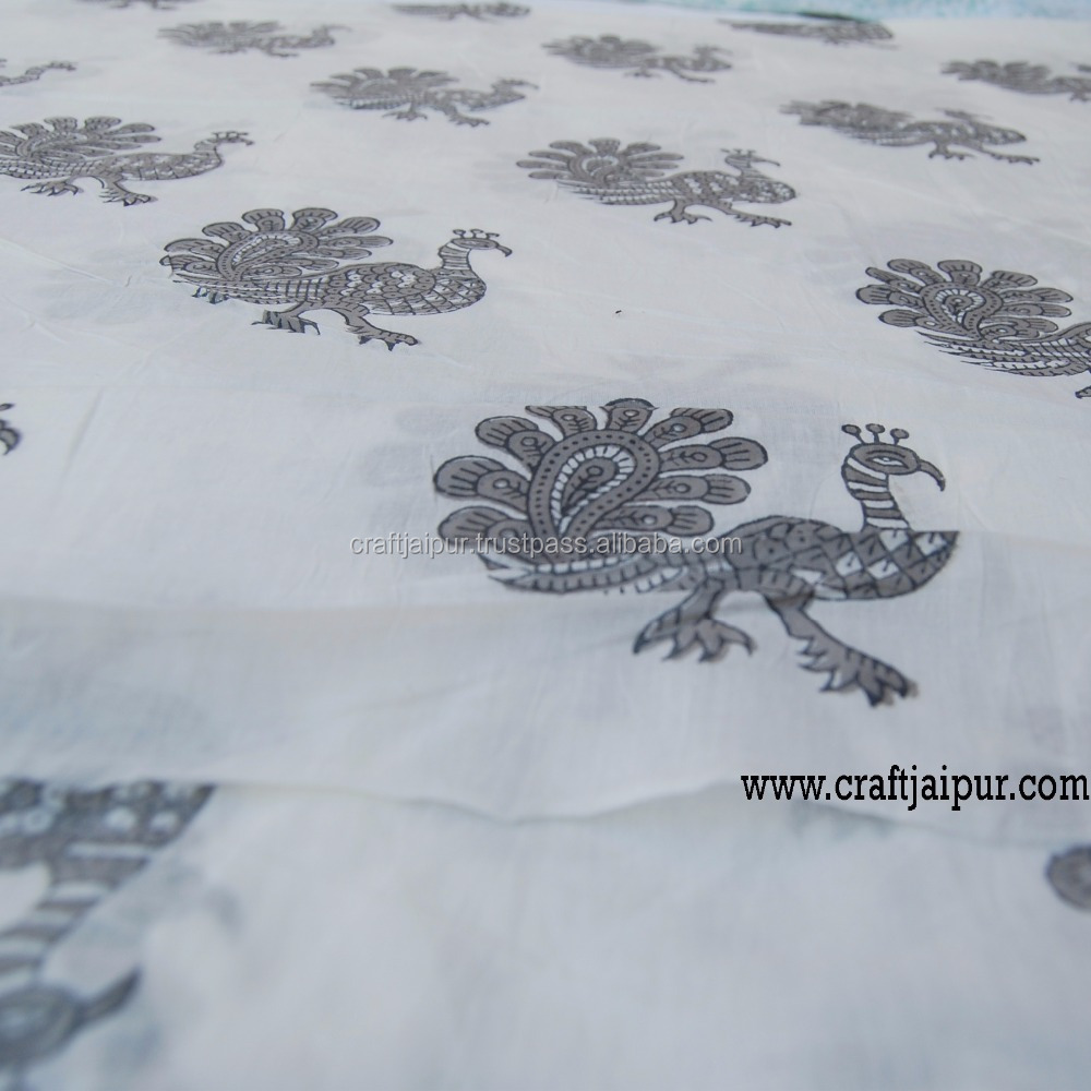 Indian Beautiful Animal Printed Wholesale Natural Cotton Voile Fabric