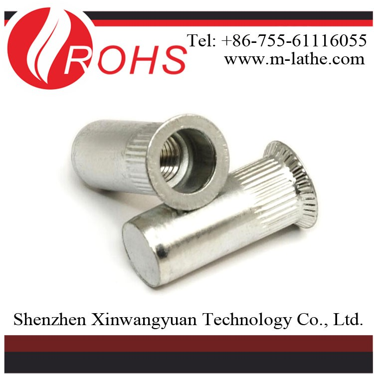 good quality Different Types Of Zinc Plated Steel Rivet Nut own factory
