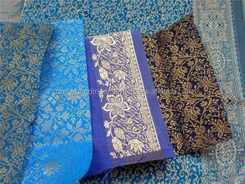 custom made brocade silk fabrics in width of 36 inches suitable for clothing manufacturers