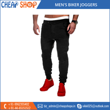 2017 New Arrival Trendy Looking Men's Biker Joggers for Bulk Export