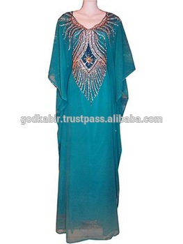 Modern people first choice Exquisite Neon Kaftan women evening /summer/beach/batik/casual cheap rate long kaftan dress.