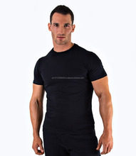 Men's Slim Fit Gym Clothing Manufacturer Comfort Colors Plain Sport New Pattern T-shirts Blank Black T-shirt