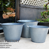 Set Of 3 Zinc Pot Planter