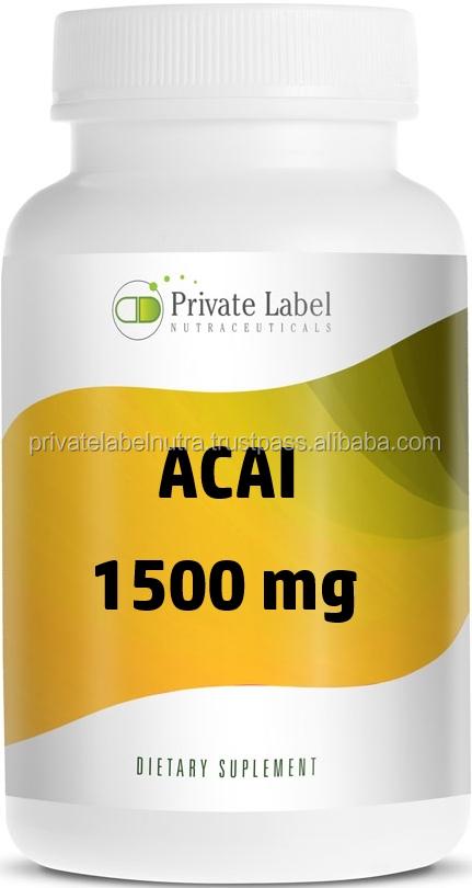 High Quality Health Food Supplement - 1500mg Acai Berry Capsule