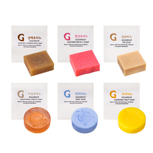 Gosarisup Baby Soap 100g 6Types Korea Cosmetic Mint Olive Oil Camellia Eco-friendly Clean Water Natural Aromatic Herb Best