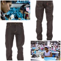 black loose denim pant jeans pant factory vietnam factory with cheap price better than china quality