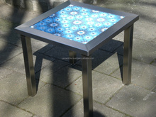Table tile on top - Cement tile table