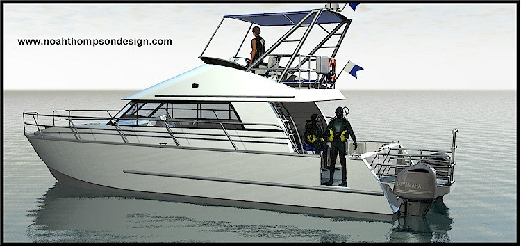 13.5m Hydrofoil Assisted Power Catamaran Dive Boat