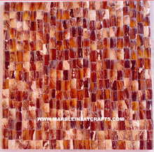Red And Brown Mother Of Pearl Tiles
