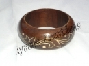 Brass Inlay Wooden Bangle Selecting Different Materials Peerless