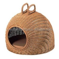 Pet warm cat beds made from rattan