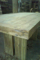 Bleached Teak Wood Dining Table