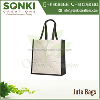 Popular Design Dyed Jute Shopping Bag with Long Self Handles at Best Selling Price