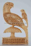 Parrot Statue India Rich Arts and Crafts Handmade Handicraft Statue Murti Sculpture India wood Carving Bird