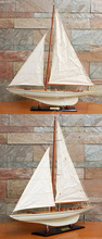 Columbia Painted Large L100 cm - Handmade wooden sailboat model