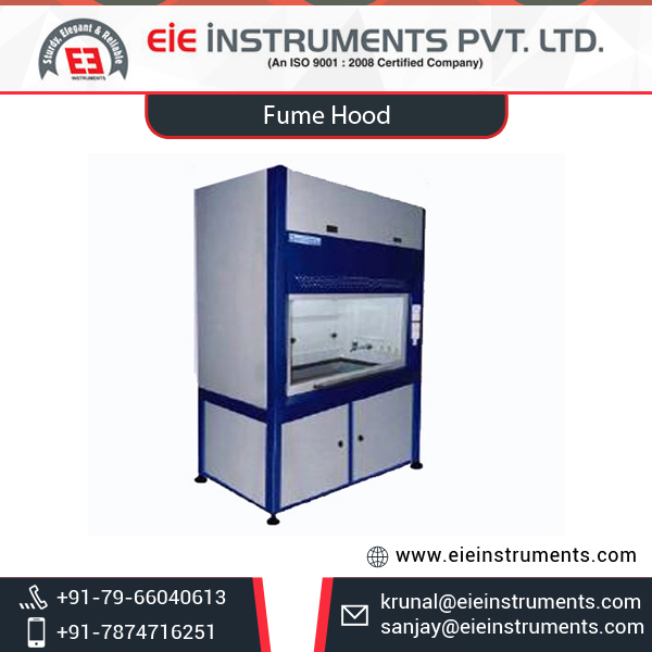Fume Exhaust Cabinet with Best Working Area
