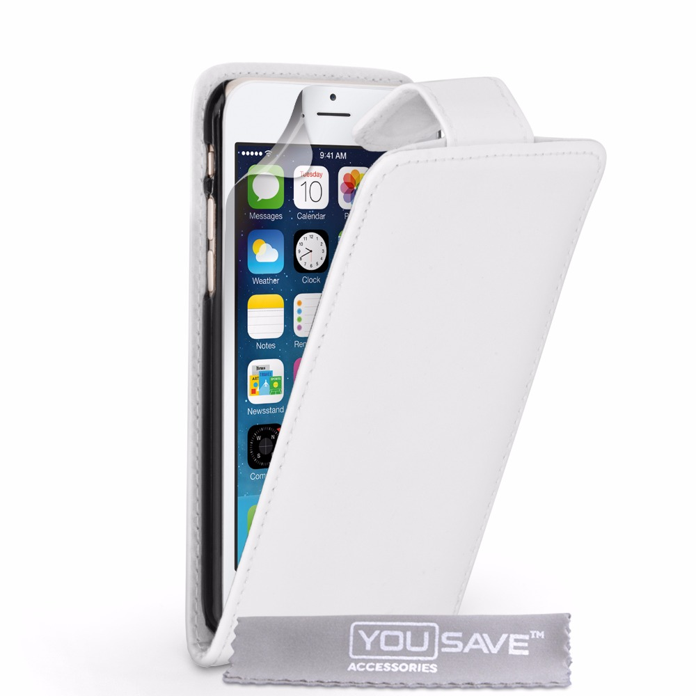 Flip Case Cover PU Leather for iPhone 6 White