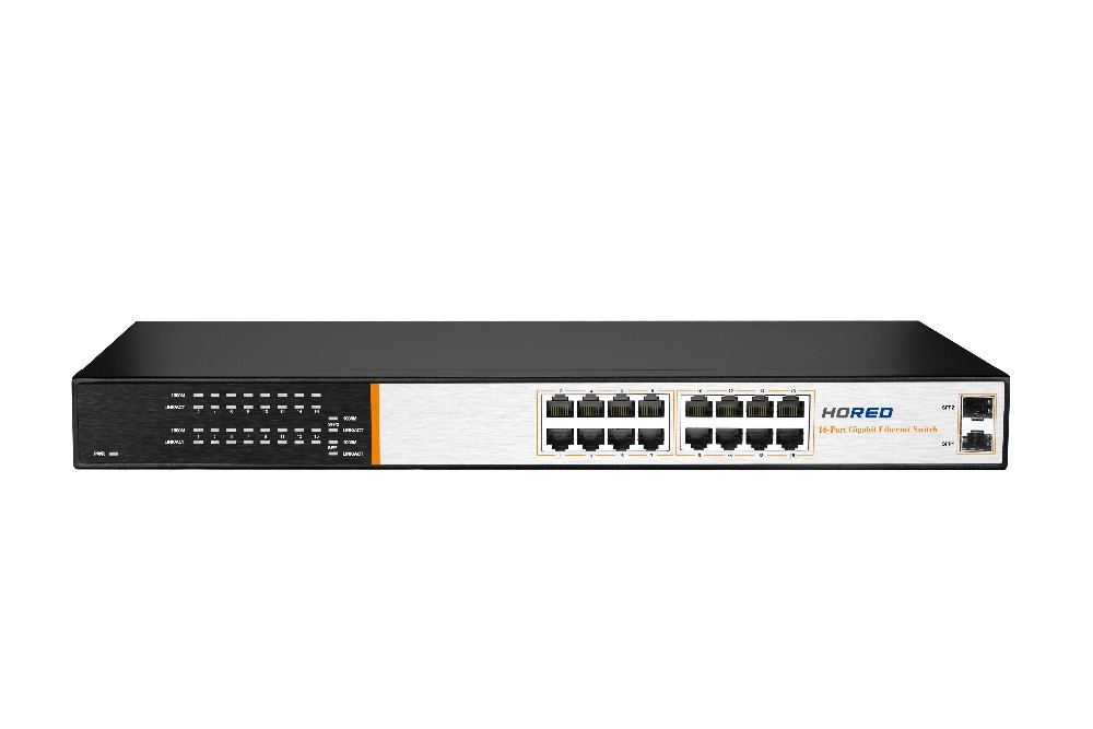 16 Ports 100/1000Mbps 1U Network Switch/ethernet switch 12v