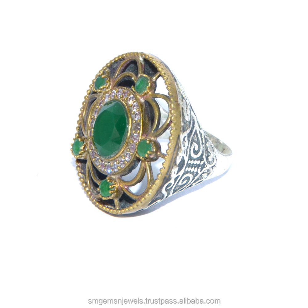 Antique Turkish Jewellery Sterling Silver ring