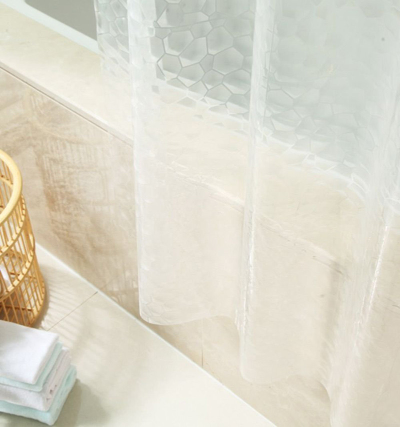 Factory price customize 3d eva shower curtain for bathroom