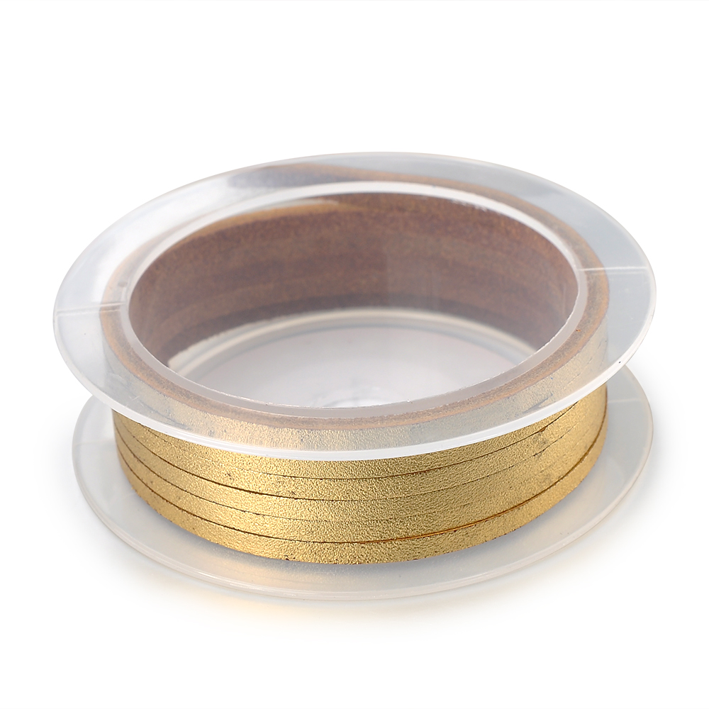 Jewelry Making Supplier Custom 2mm 3mm 6mm Flat Gold Metallic Leather Cord For Jewelry