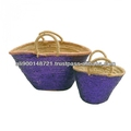 Palm leaves basket