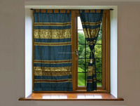Deisgner Jacquard Work Silk Living Room Curtains and Valances