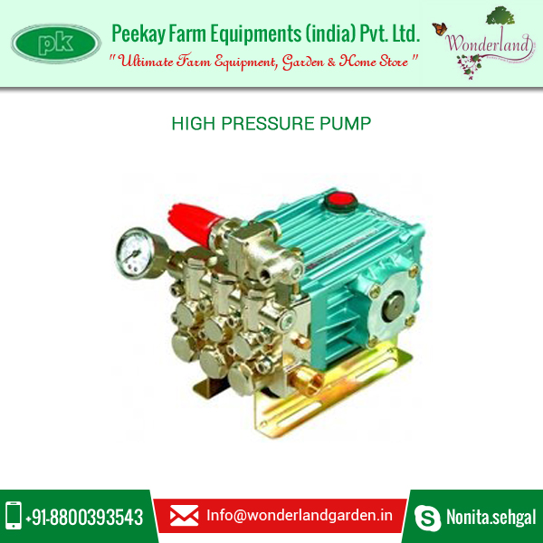 Superior Grade High Pressure Water Pump for Garden and Farm Use available from Trusted Manufacturer