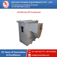 Trouble Free Low Noise 100 KVA Dry Transformer for Indoor Installation