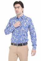 Hand Block Printed Designer Cotton Men's Shirt Formal Slim Fit Casual Shirts