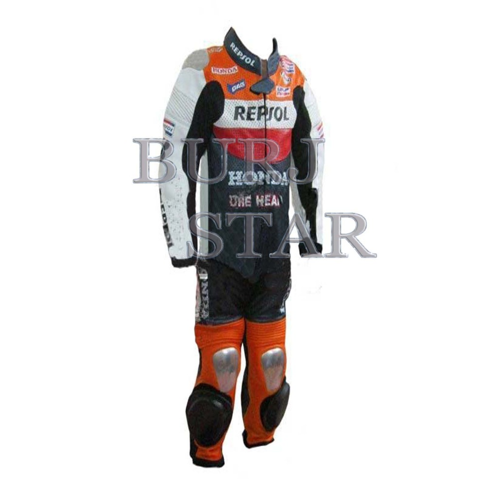 Professional Kids Motorbike Racing Leather Suit , Full Safety Motorcycle Racing Suit - Cowhide Leather Suit