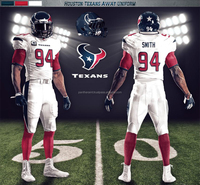 HOUSTON TEXAN AWAY UNIFORM