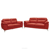 High quality modern top grain full / half leather comfortable 1+2+3 sofa living room sofa set Malaysian manufacturer NF9425