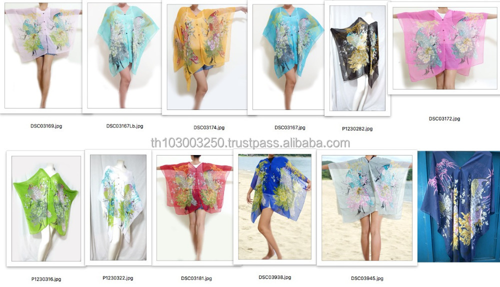 Boho CHIFFON butterfly kimono kaftan shirt pareo shawl scarf beach cover up chic buttons garden peacock